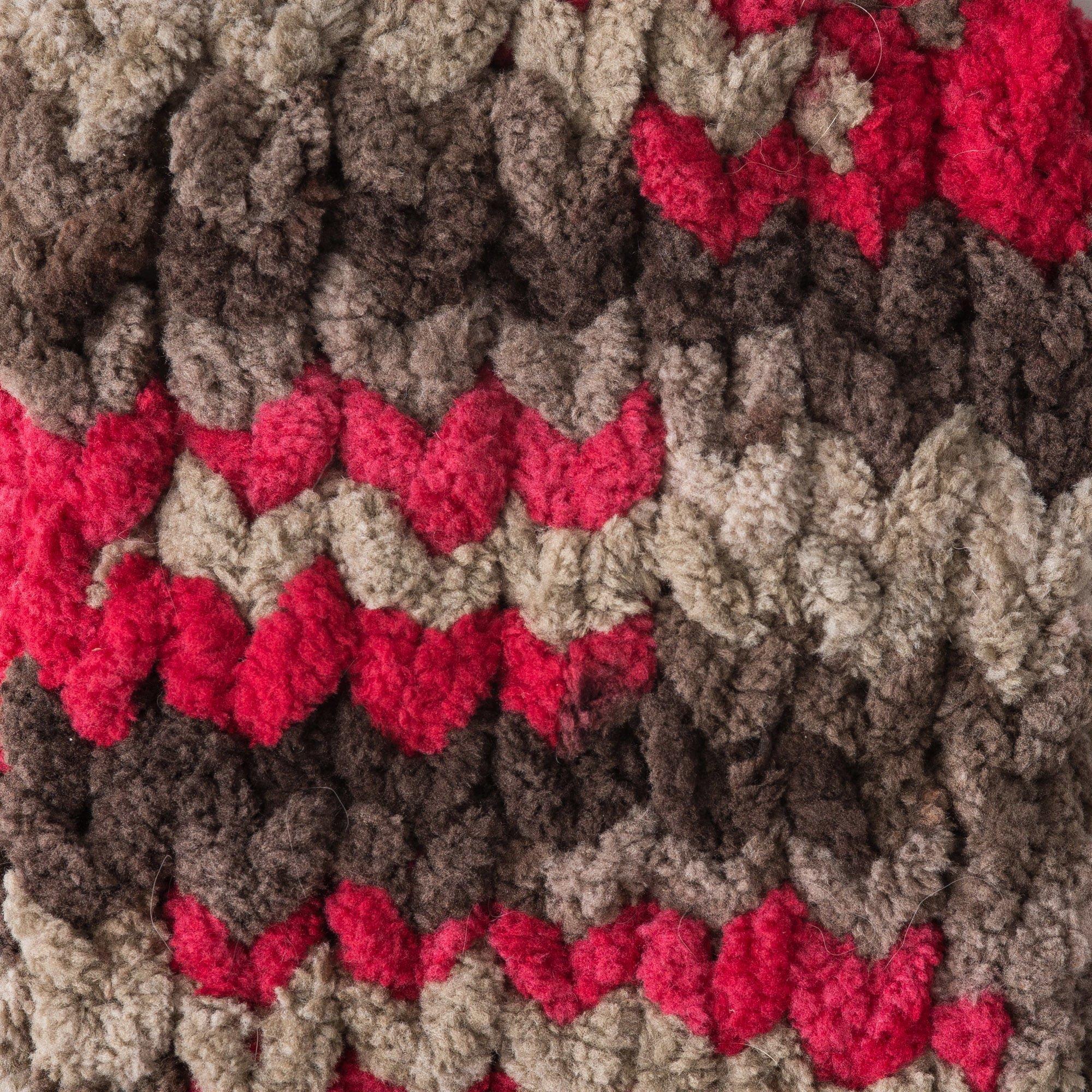 Bernat Blanket Yarn (5.3 oz) - 6 Pack Bundle with 3 Patterns - Raspberry Trifle