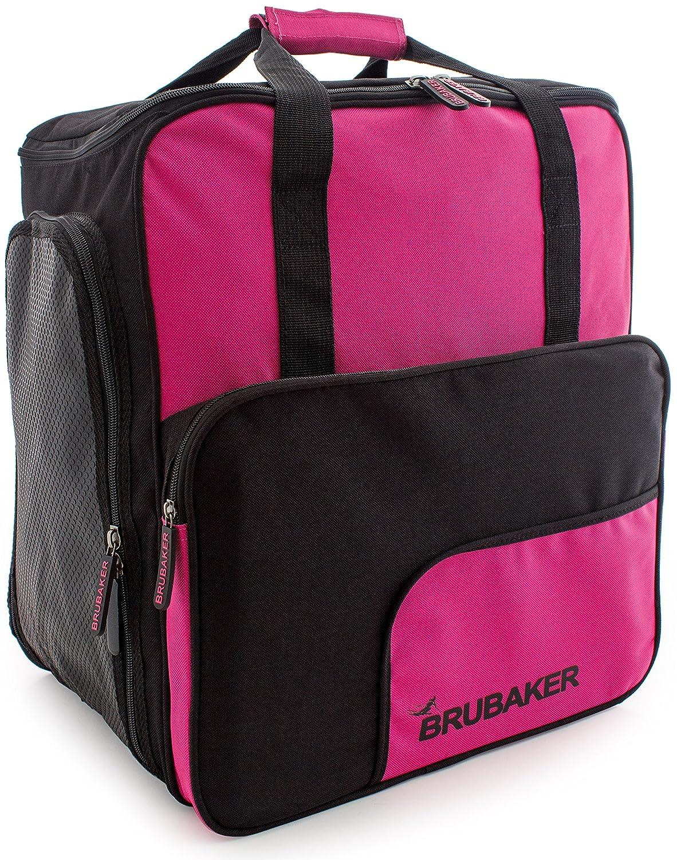 BRUBAKER Skischuhtasche Helmtasche Skischuhrucksack Superfunction Pink Schwarz - Limited Edition -