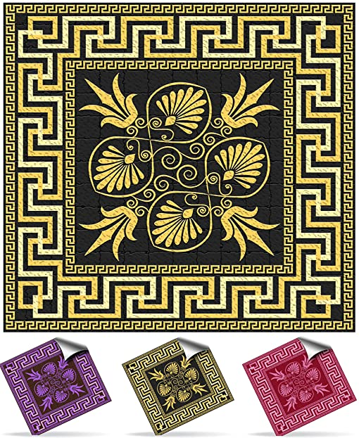 Tile Style Decals   Modell (30xNTP 04   4u0026quot;  Black And Gold)