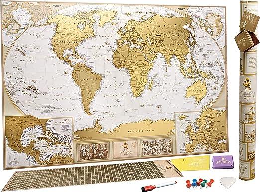 Grosse Deluxe Rubbel Weltkarte Karte Zum Rubbeln Sie Konnen10