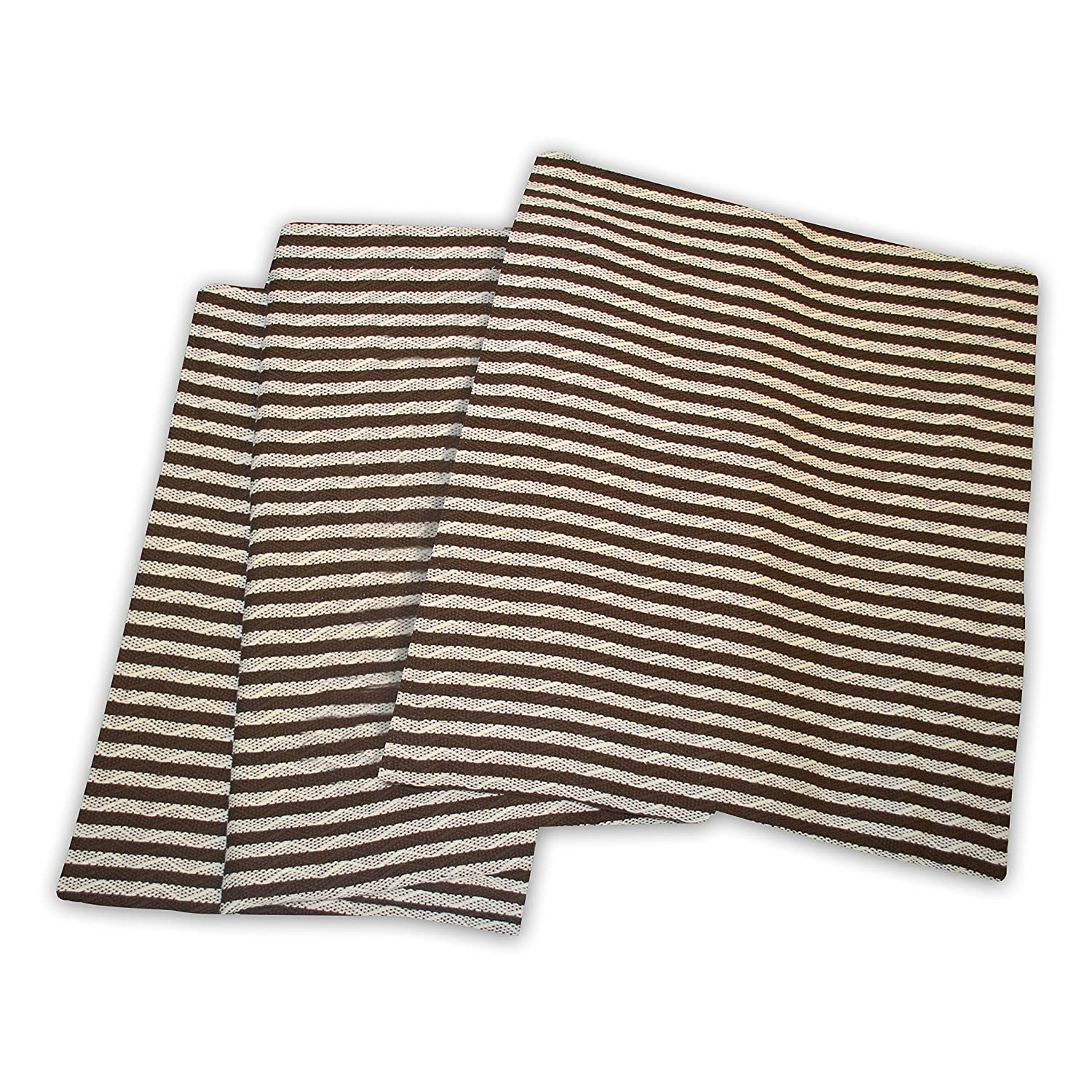 Ivory//Chocolate BLANKET/_STR KG IVCH Bed Oversized Throw Blanket with Woven Stripe Pattern Superior 100/% Thermal King Soft and Breathable Cotton for All Seasons
