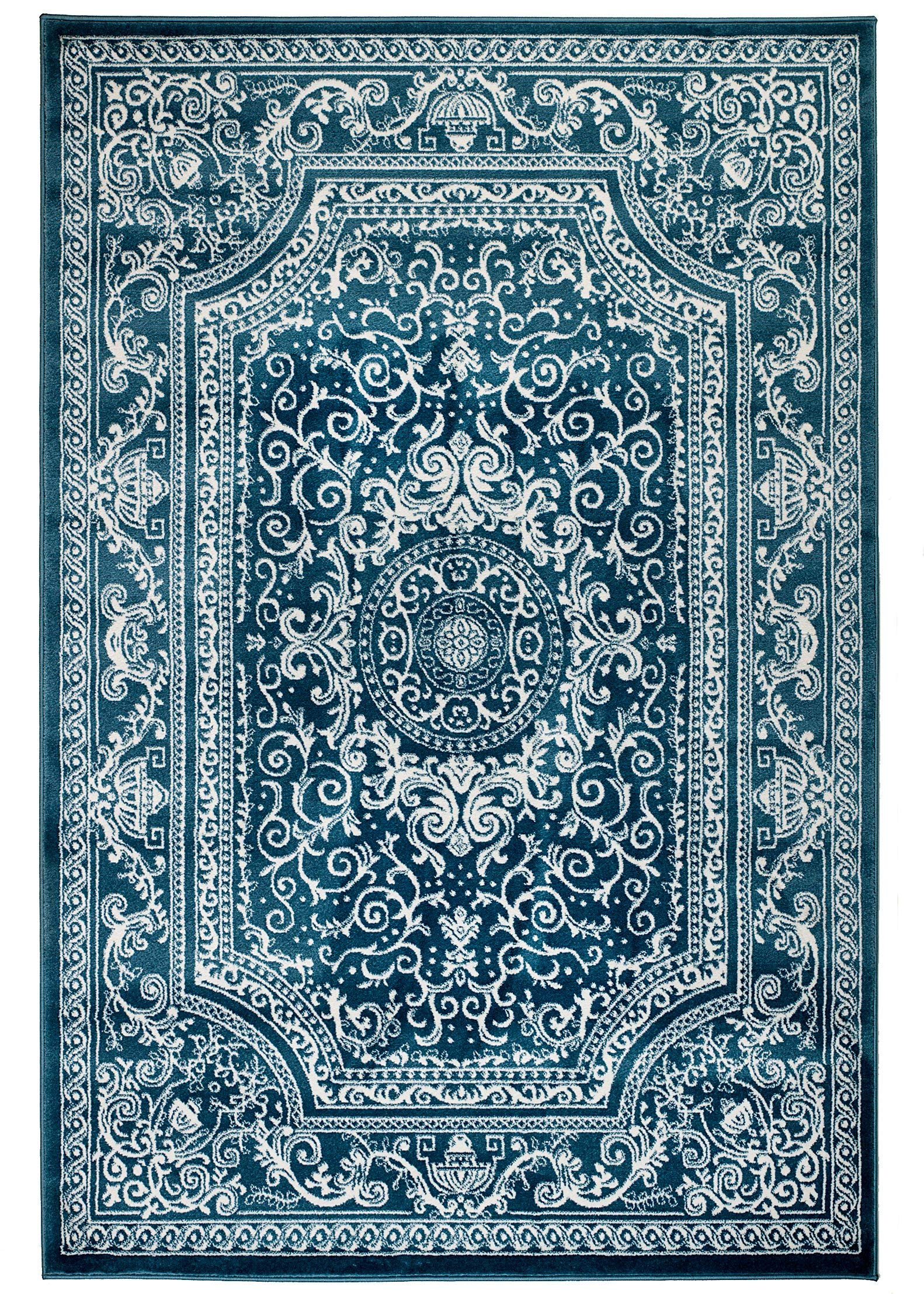 NEW Summit Elite S62 Blue and White rug Antique Style Tone   (22 inch x 35 inch SCATTER RUG DOOR MAT SIZE )