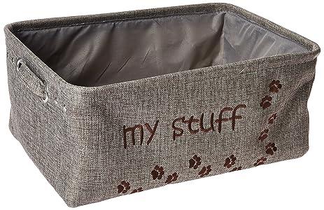 Winifred U0026 Lily Pet Toy And Accessory Storage Bin, Organizer Storage Basket  For Pet Toys