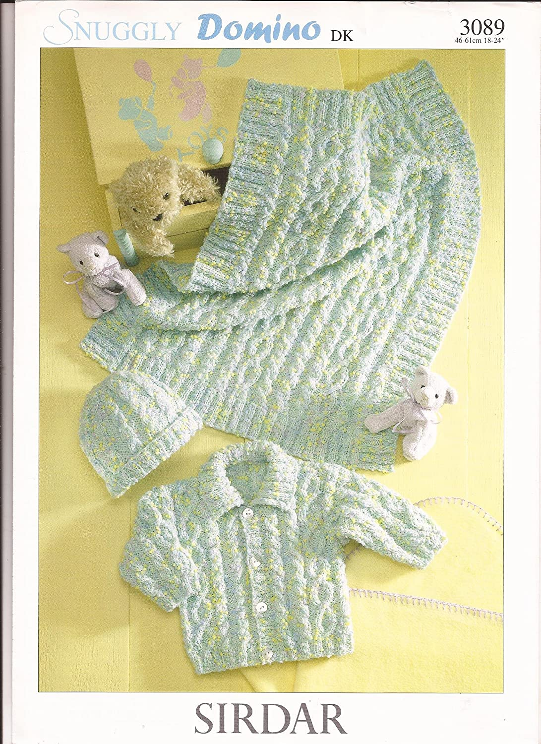 4 yrs Hat /& Blanket for 3 mo Sirdar Snuggly Domino DK Knitting Pattern 3089 Baby /& Child Jacket
