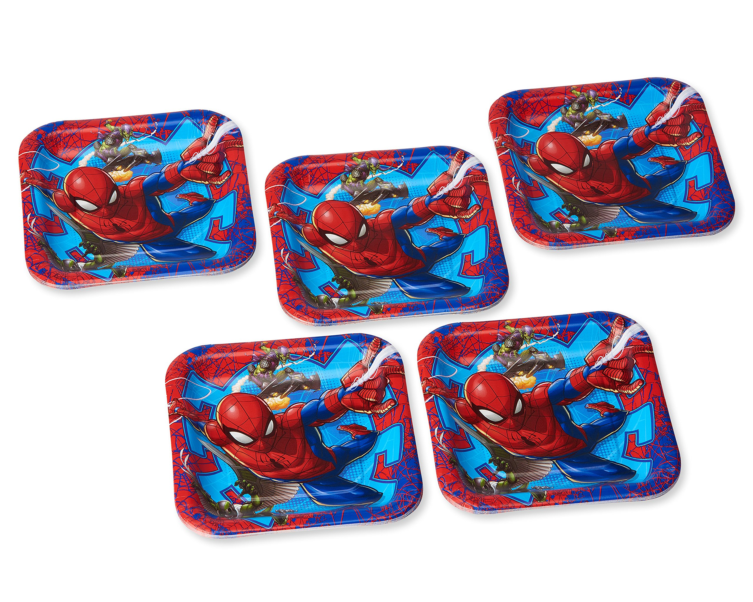 American Greetings Spider-Man 2 Party Supplies, Disposable Paper Dinner Plates, 40-Count by American Greetings