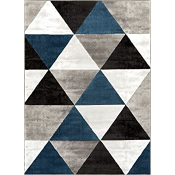 Amazon Com Well Woven Arlo Tiles Blue Modern Triangle