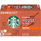 Starbucks House Blend Medium Roast Single Cup Coffee for Keurig Brewers, Box of 10 (10 total K-Cup pods)