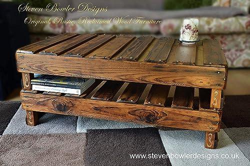 Bespoke Celtic Style Rustic Reclaimed Wood Coffee Table In