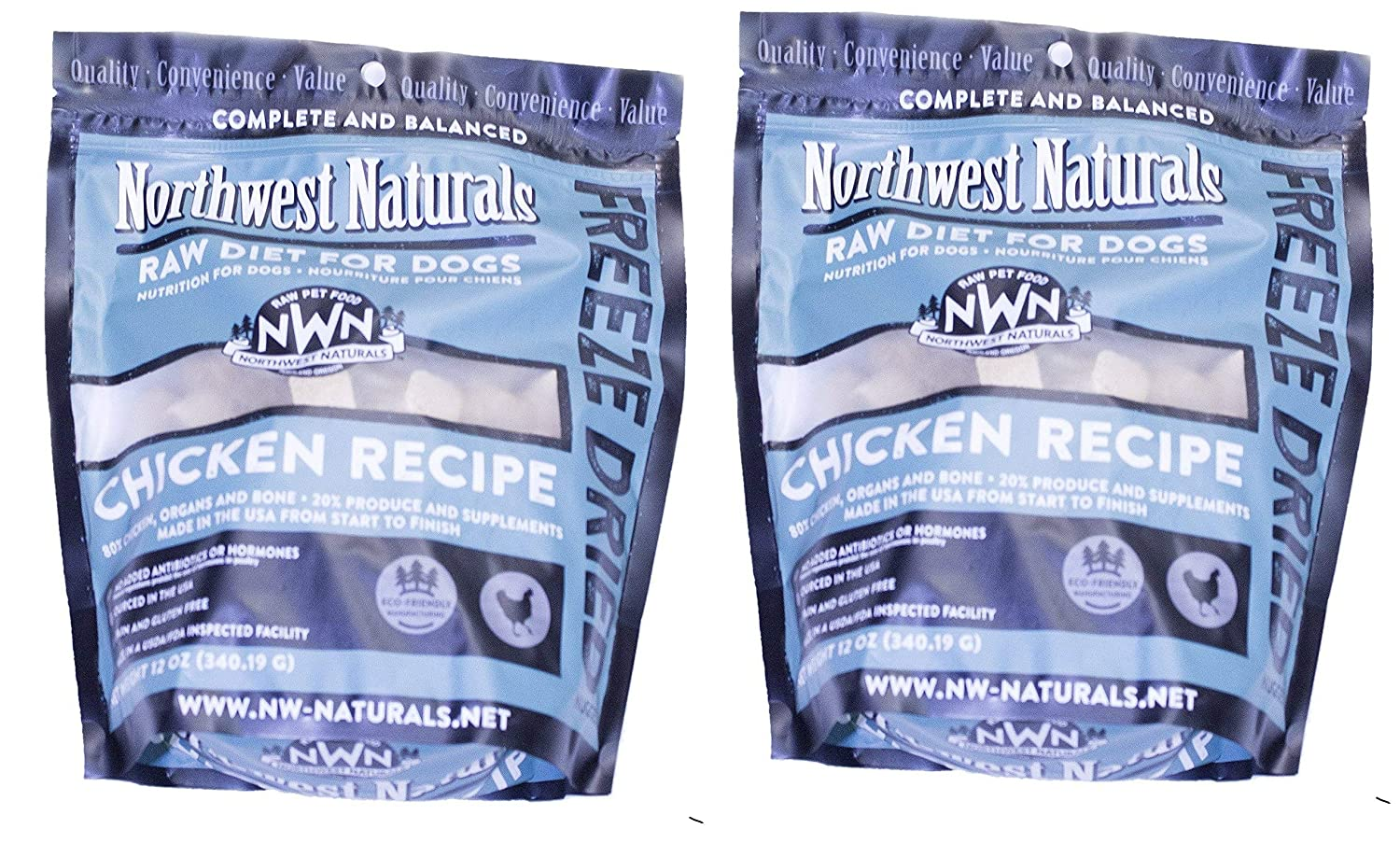 Northwest Naturals 2 Pack Raw Diet Freeze Dried Nuggets – Dinner Dogs Chicken
