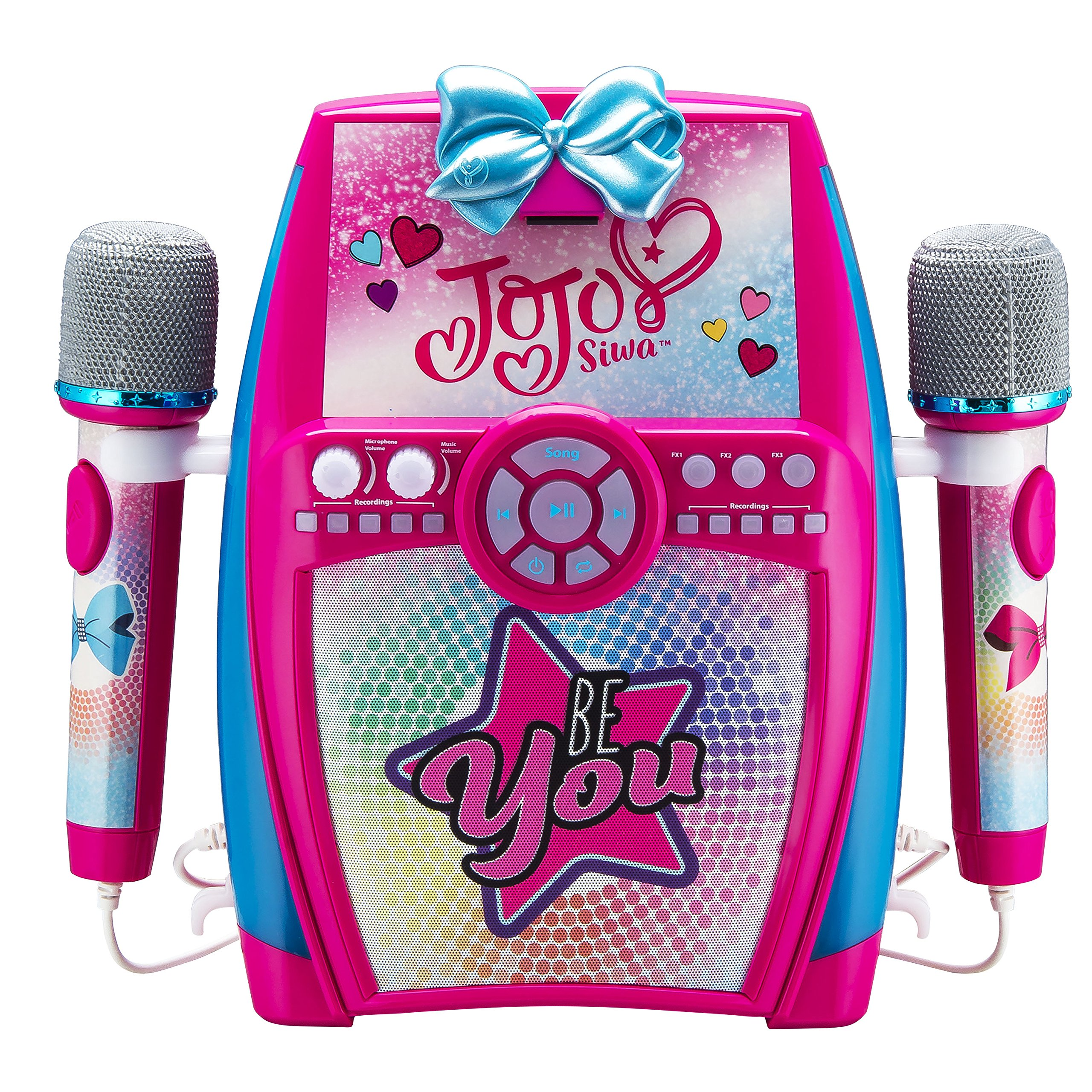 eKids Jojo Siwa Bow Digital Recording Studio with Dual Microphones - Record, Sing, and Create by eKids