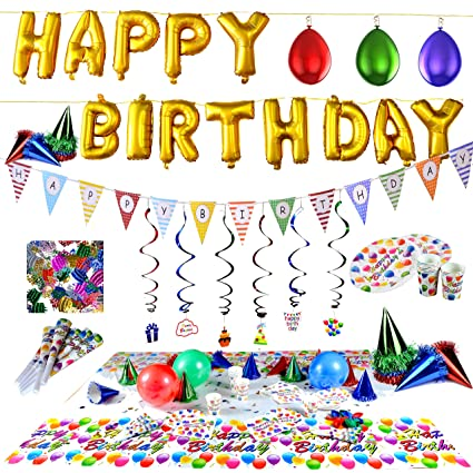 Amazoncom Joyin Toy Happy Birthday Party Supplies set Over 100 PC