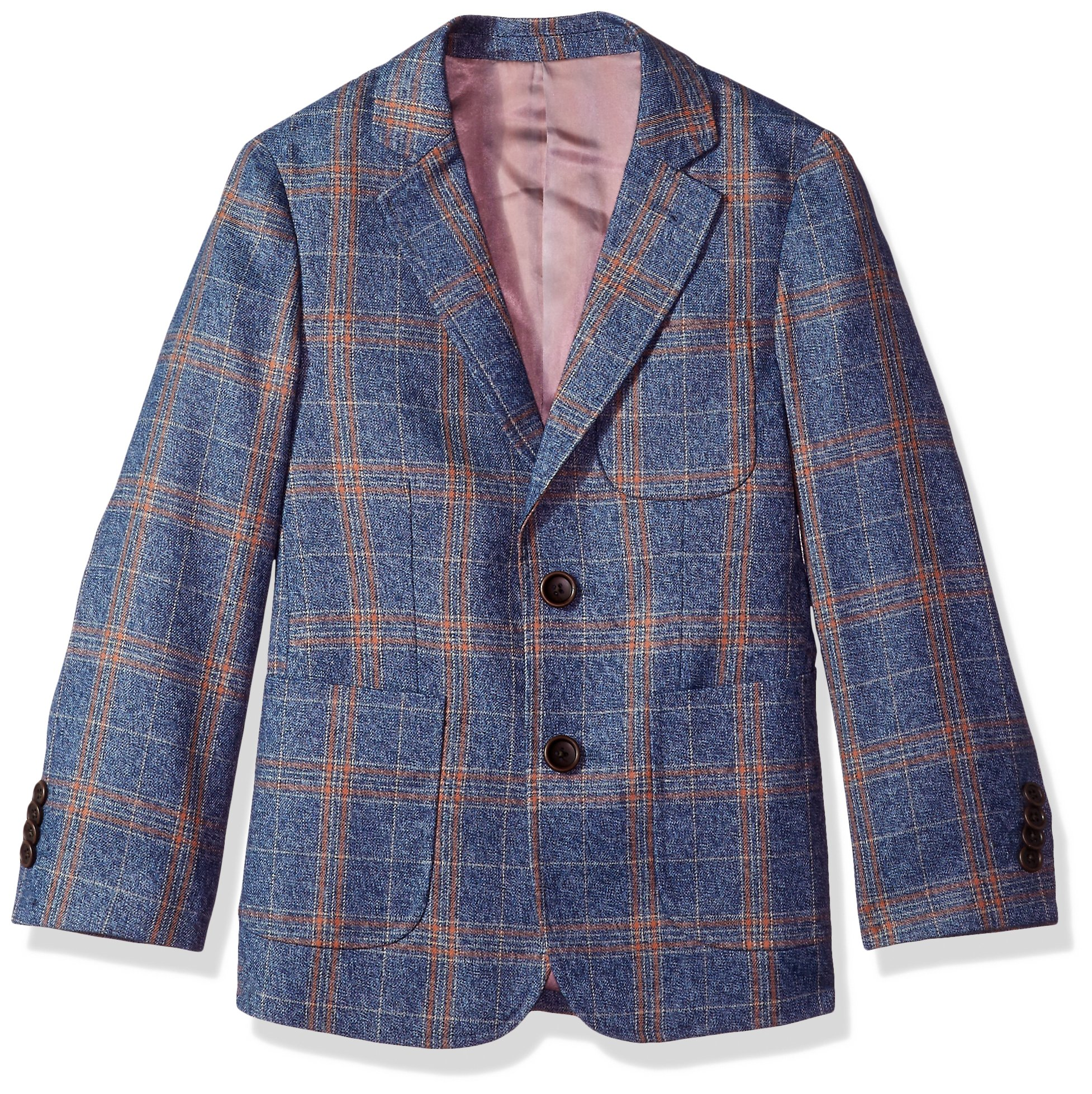 Isaac Mizrahi Toddler Boys' Large Contrast Plaid Blazer, Blue, 2 by Isaac Mizrahi