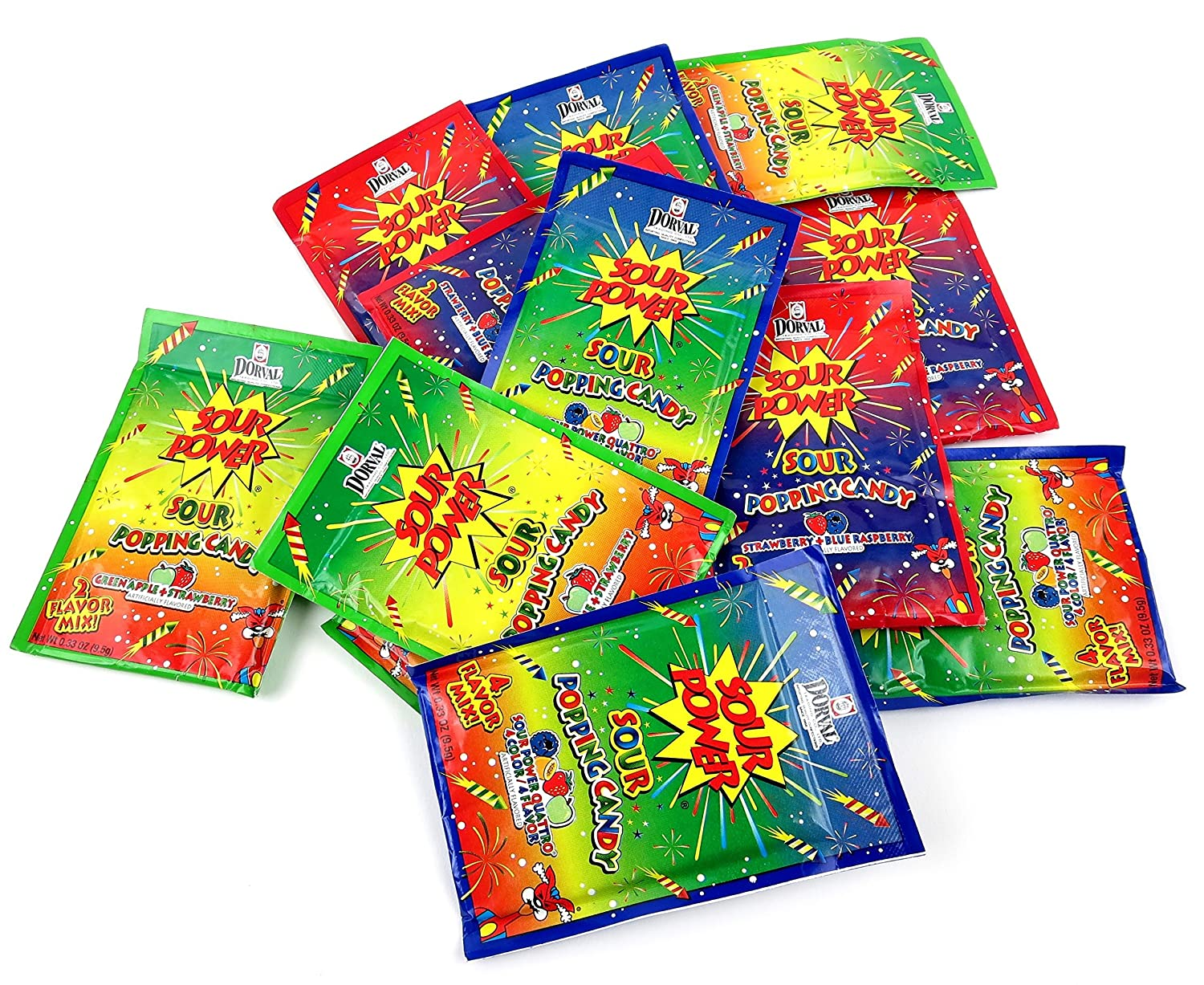 Amazon dorval sour power sour popping candy 3 flavor variety amazon dorval sour power sour popping candy 3 flavor variety four 033 oz packets each of strawberry blue raspberry green apple strawberry solutioingenieria Image collections