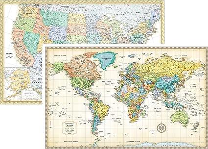 Rand McNally clásico de los Estados Unidos Estados Unidos y mapa ...