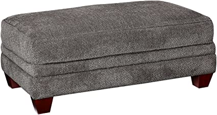 Magnificent Amazon Com Franklin Furniture Abbott Ottoman Large Pewter Squirreltailoven Fun Painted Chair Ideas Images Squirreltailovenorg
