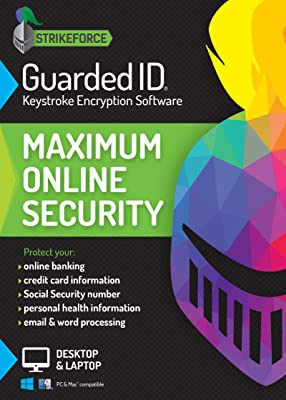 GuardedID Keystroke Encryption Software | 2 Devices | PC, Mac