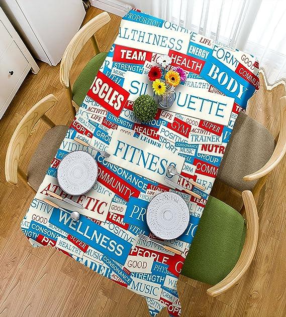 HAIXIA Mantel de fitness con diseño de palabras y texto en ...