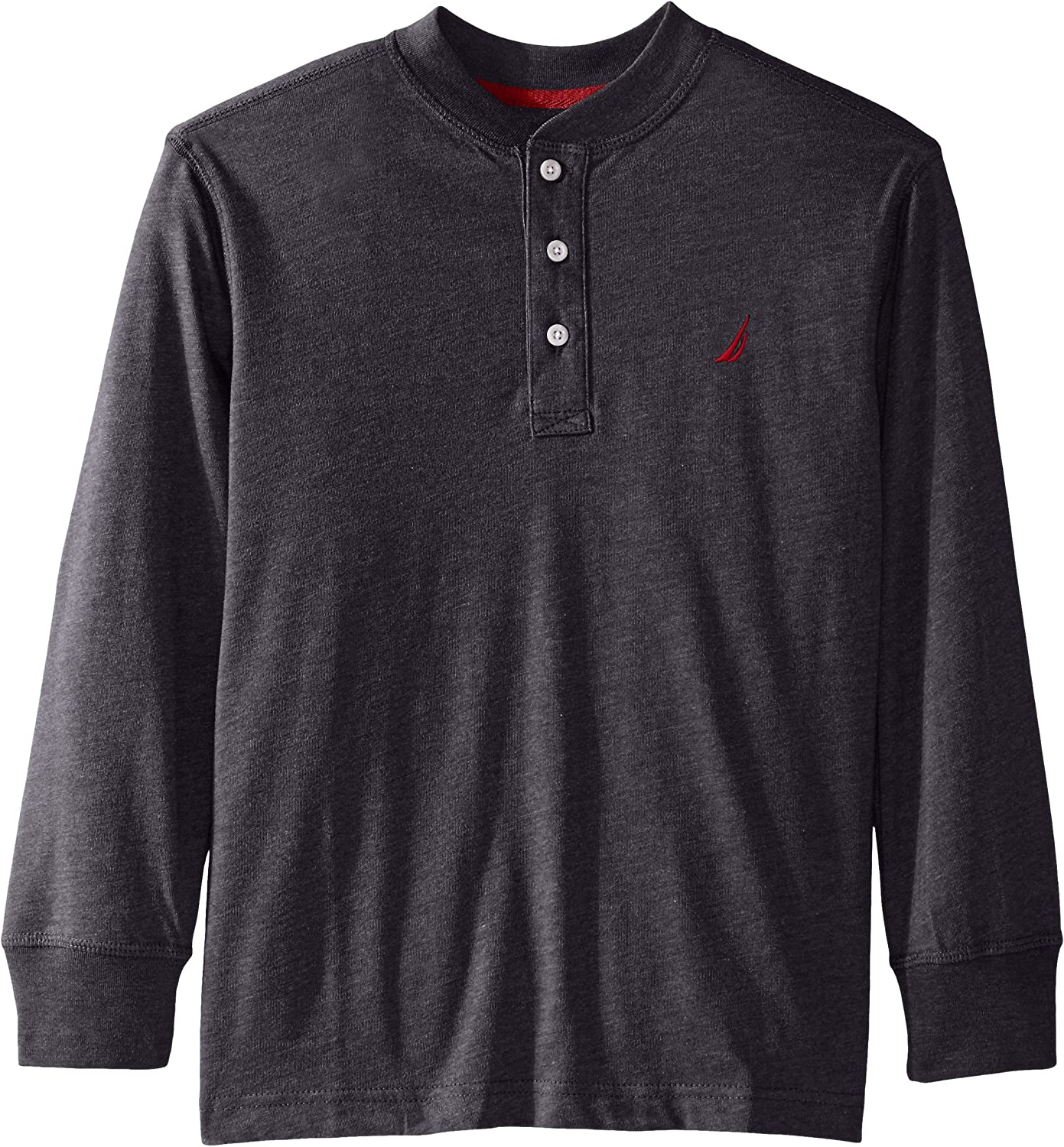 Nautica Boys Long Sleeve Jersey Henley with Stripe