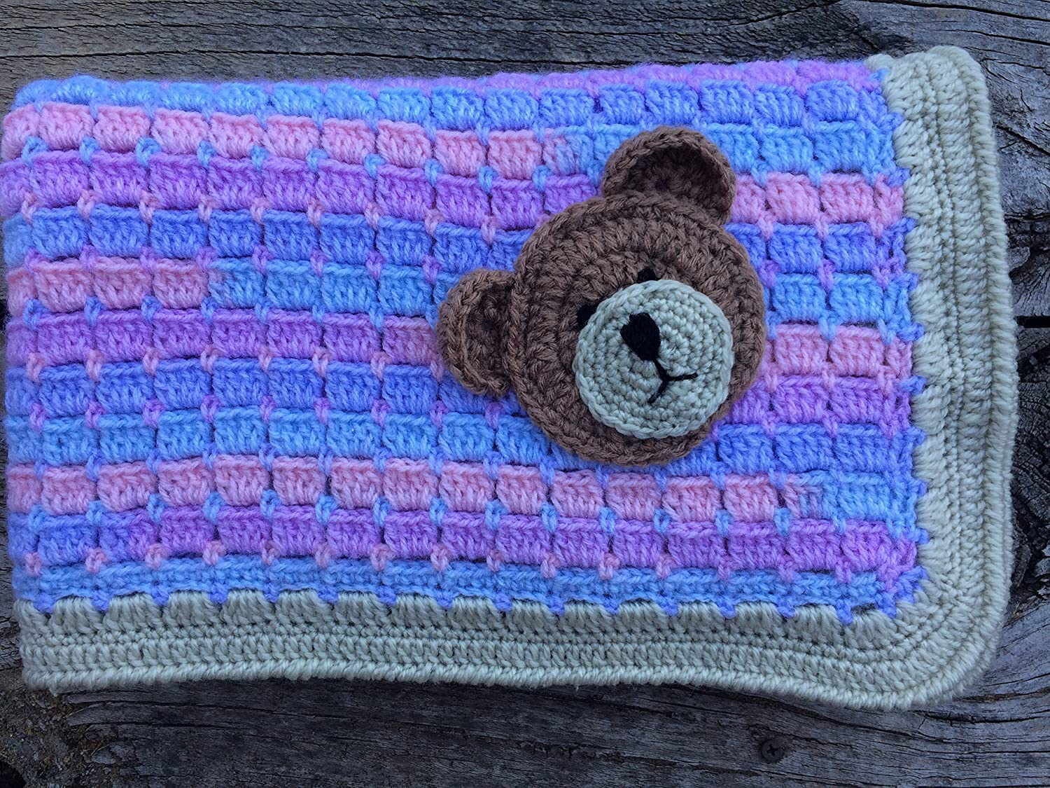Sleep Tight Teddy Bear Blanket Pattern Crochet Pattern | 1125x1500