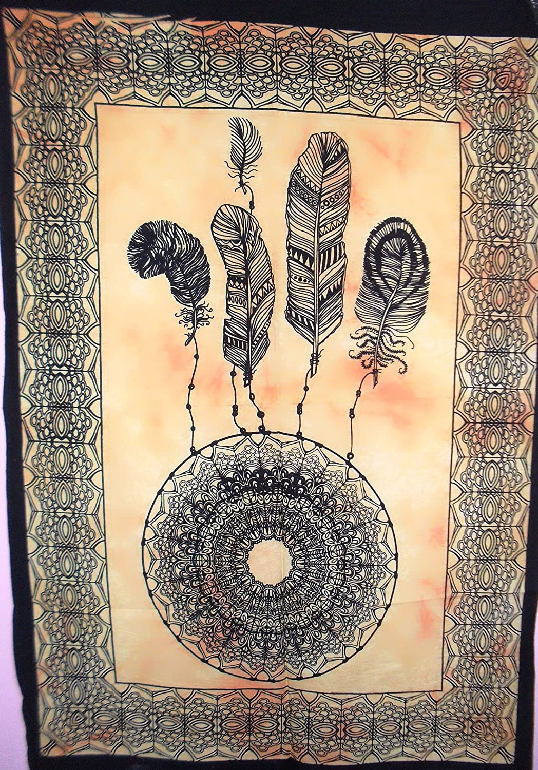 Amazon.com: Traditional Jaipur Tie Dye Dreamcatcher Poster, Indian ...