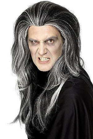 Smiffys - Peluca de vampiro para hombre ideal para Halloween