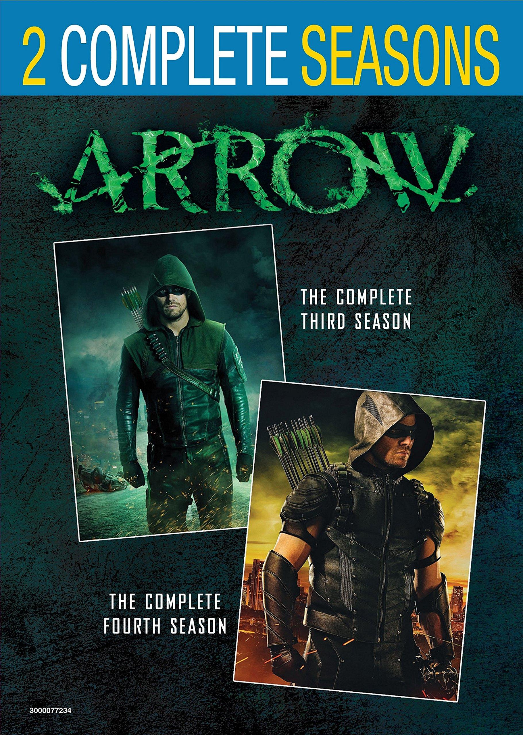 DVD : Arrow: Season 3 + Season 4 (Shrink Wrapped, Back to Back Packaging, 2 Pack, 2 Disc)