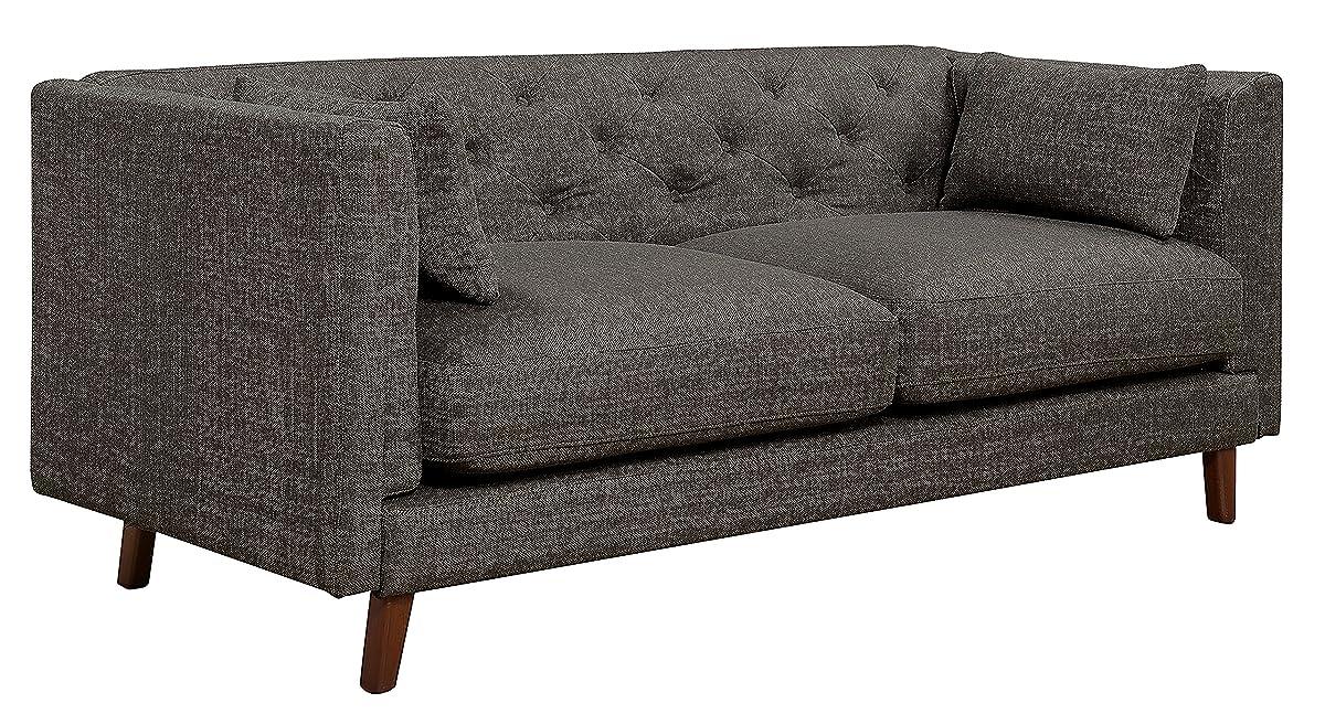 Elle Decor Celeste Tufted Sofa, Chenille, Gray