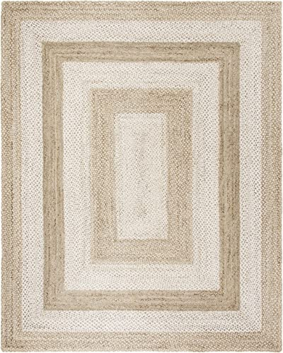 Safavieh NF884F-8 Natural Fiber Collection Grey and Ivory Jute Area Rug