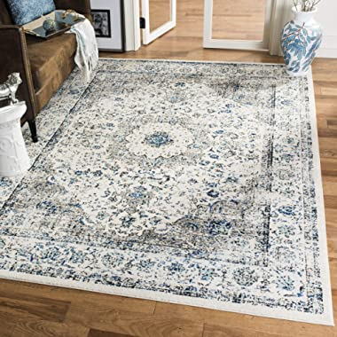 Safavieh Evoke Collection EVK220D Vintage Oriental Grey and Ivory Square Area Rug (6'7  Square)