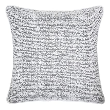 Homey Cozy Chenille Jacquard Throw Pillow Cover,Gray Series Rustic Striped  Textured Soft Fuzzy Warm Slik Large Sofa Couch Cushion Pillow Case 20 x 20  ...