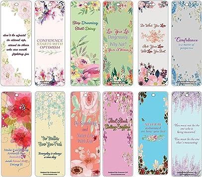 com creanoso flower theme inspirational quotes bookmarks
