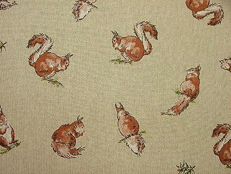 Stampe Per Cucina Country : Mini stampe animali scoiattoli country side tenda in tessuto effetto