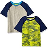 Amazon Essentials Boys' Short-Sleeve Henley T-Shirts