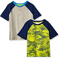 Amazon Essentials Camisetas Henley de Manga Corta Niños