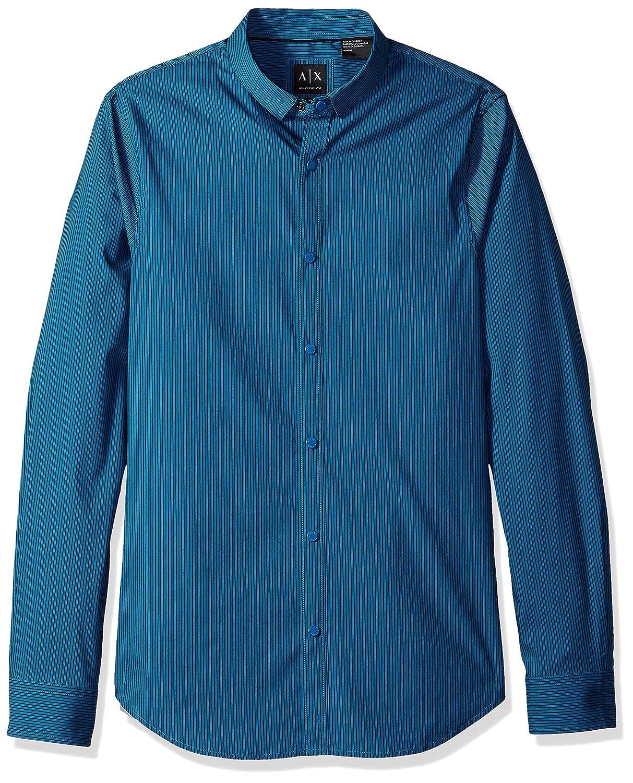 A|X Armani Exchange Men's Long Sleeve Stripe Shirt