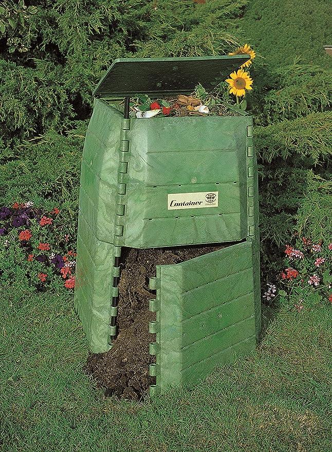 Hochwertiger Thermokomposter aus dickwandigem Kunststoff für Küchen- und Gartenabfälle – Umweltschutzpreis Gewinner – Made in