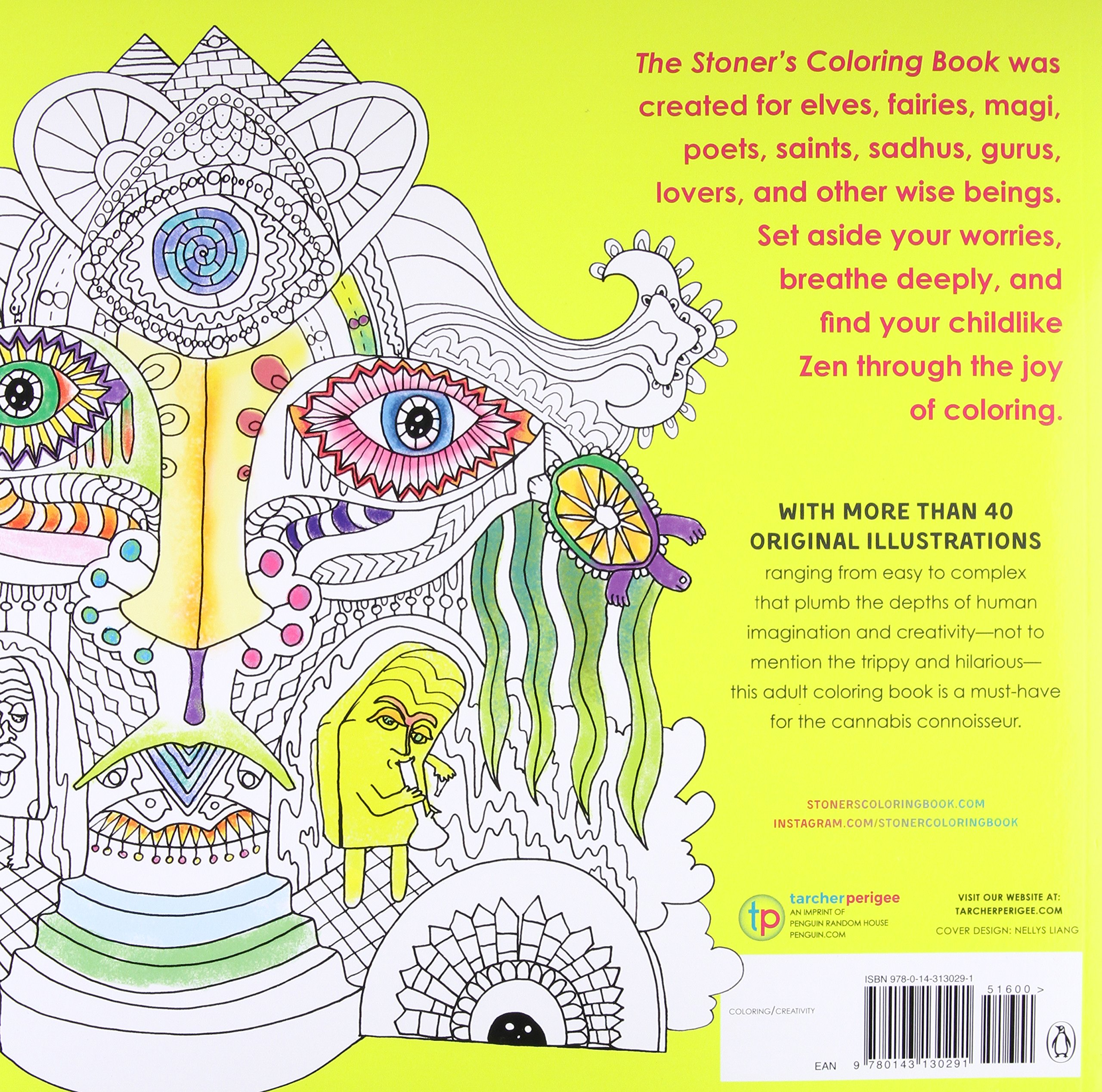 The Stoners Coloring Book For High Minded Adults Jared Hoffman 9780143130291 Books