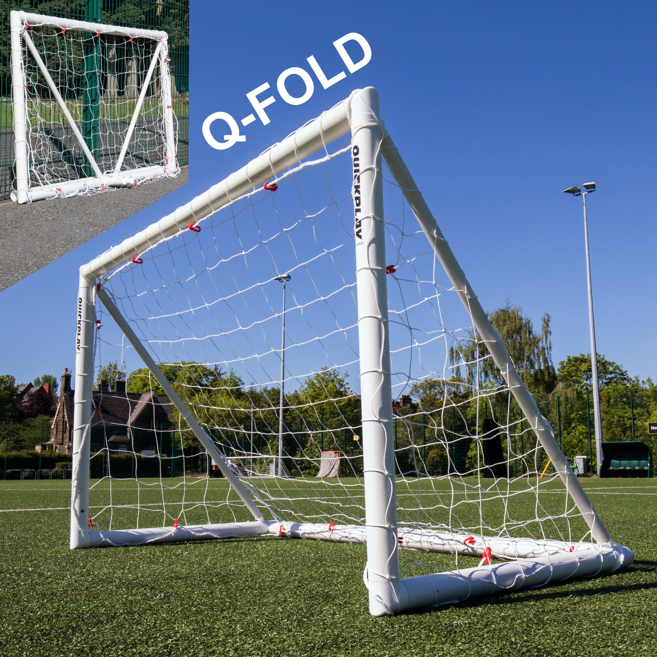 QuickPlay Q-Fold | The 30 Second Folding Soccer Goal for Backyard [Single Goal] (6x4')