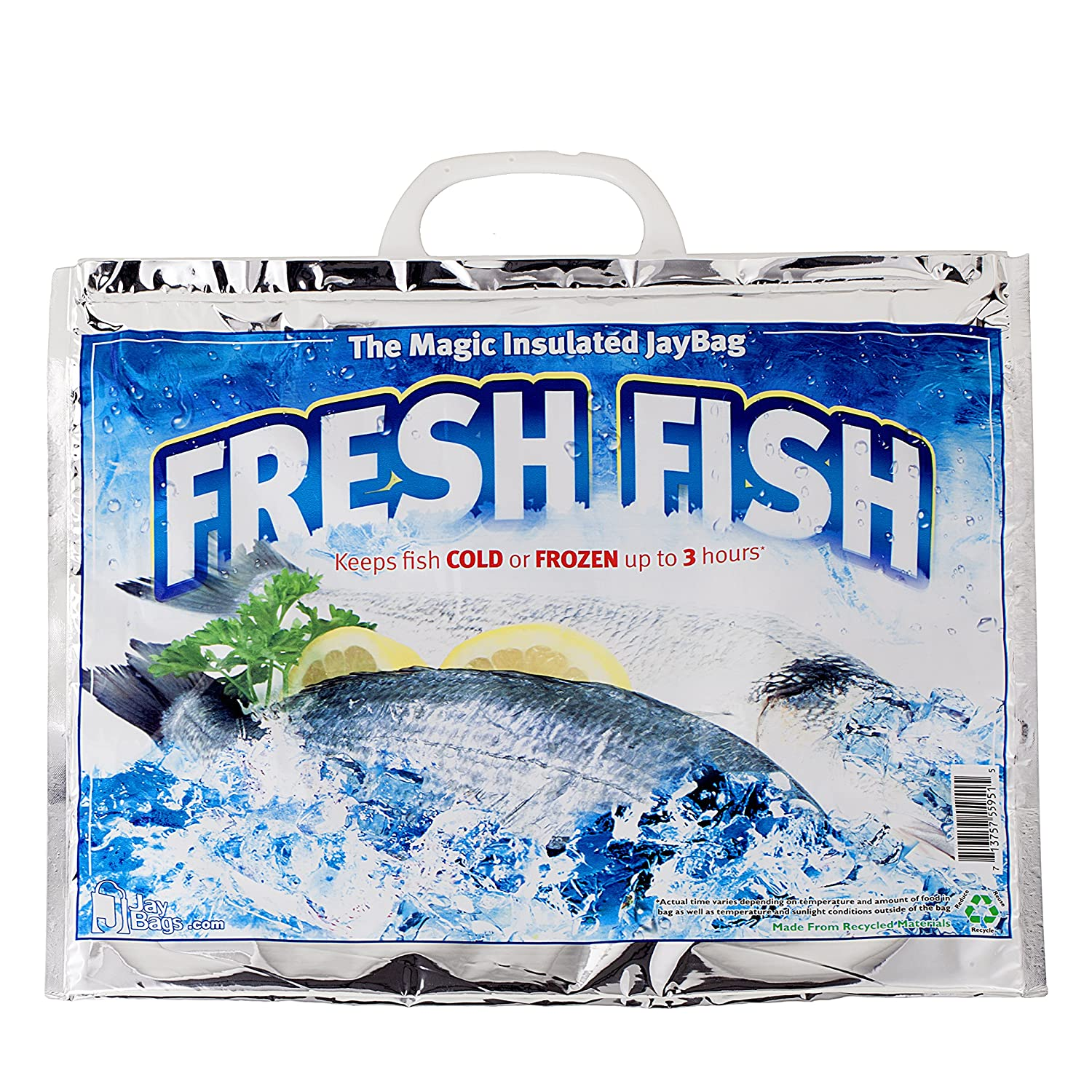 Keeps Fish Cold or Frozen up to 3 Hours Jay Bags FS-232 Small Insulated Grocery Bag