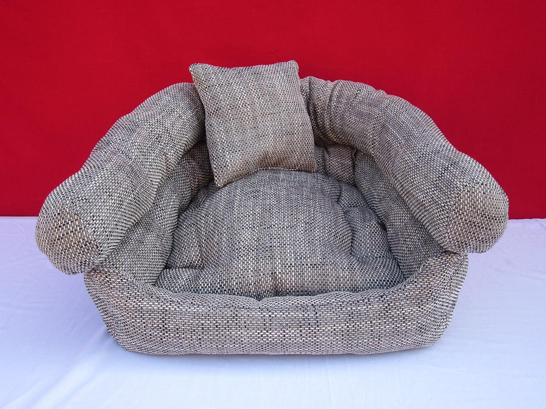 Cama para perros Perros sofá perro cesta gris Algodón 80 cm x 60 ...