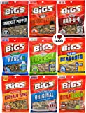 Bigs Sunflower Seed Flavor Variety Pack 9 bags (5.35oz each) with Bonus Magnet