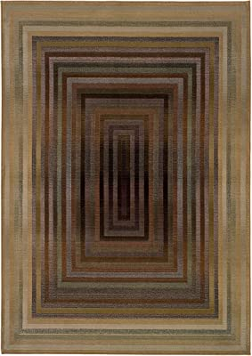 Oriental Weavers Rectangular Area Rug in Beige and Green (7 ft. 6 in. L x 2 ft. 3 in. W)