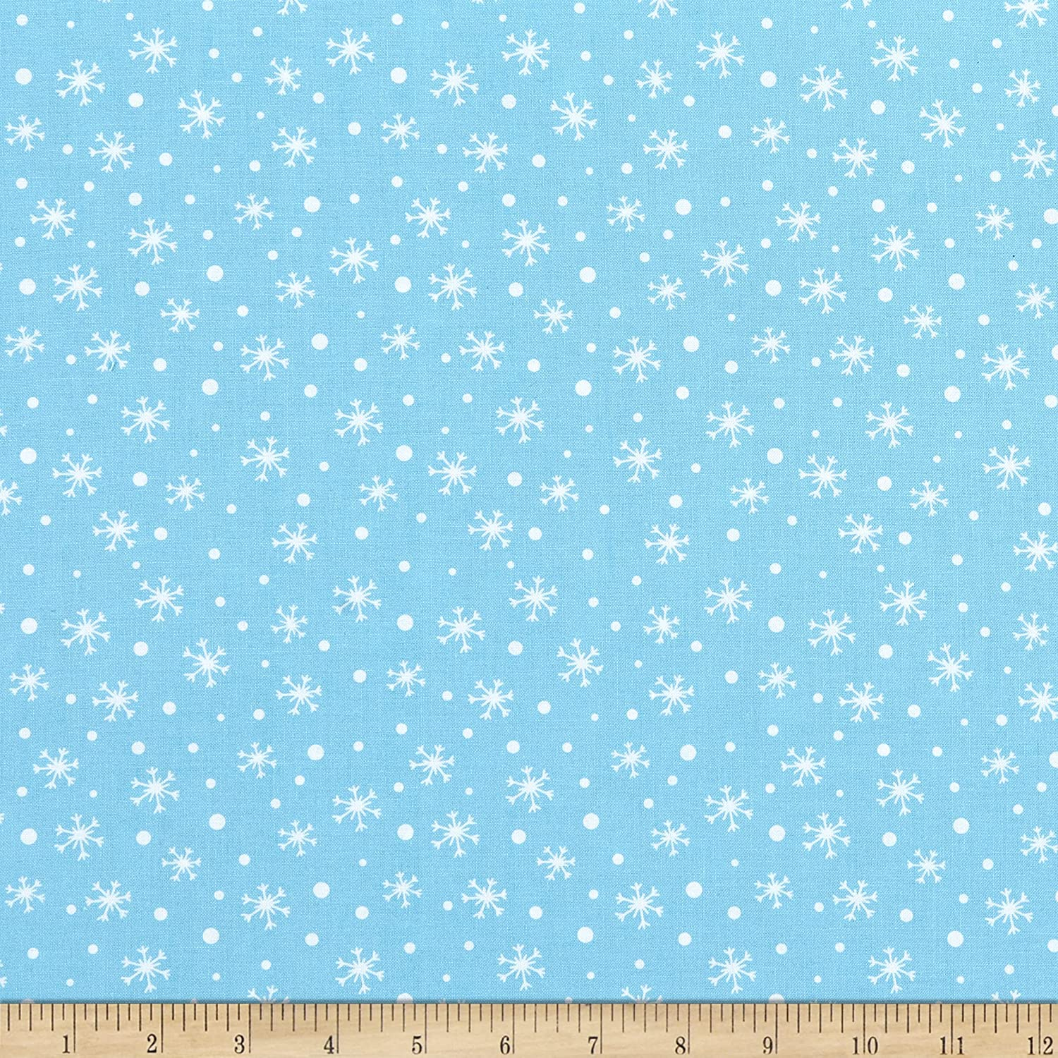Kanvas Snow Place Like Home Snow Daze Turquoise Fabric by The Yard