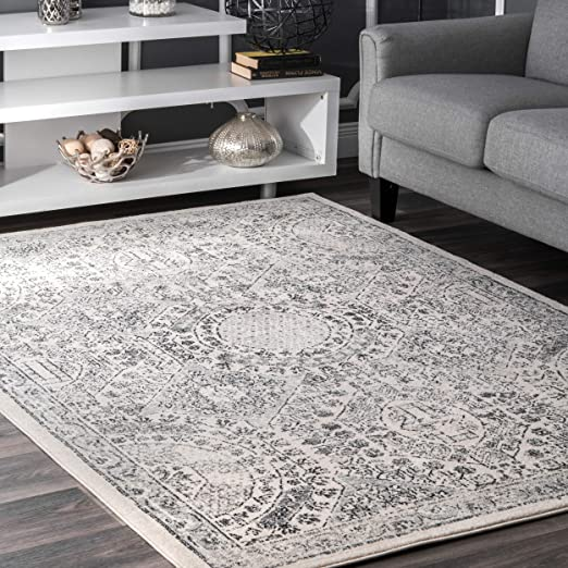 Amazon Com Nuloom Minta Vintage Area Rug 8 10 X 12 Grey
