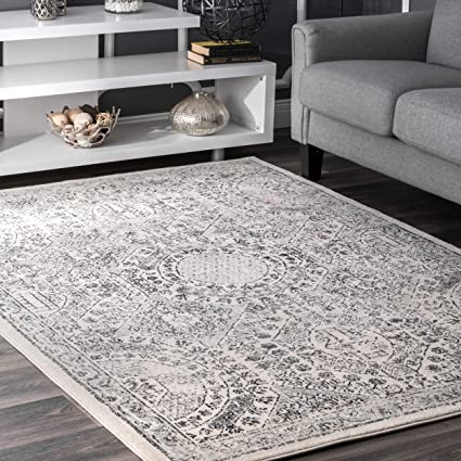amazon com traditional vintage honeycomb labyrinth grey area rugs
