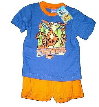 86e97cf4a45f9 Boys Disney Tigger Pyjamas Orange/Blue (4-5 Years): Amazon.co.uk: Clothing