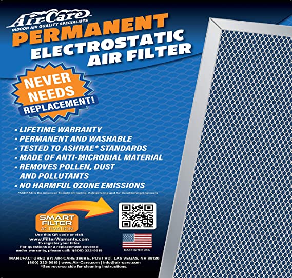 For Furnace or AC Washable 20x25x1 Lifetime Air Filter Never Buy Another Filter Electrostatic Permanent