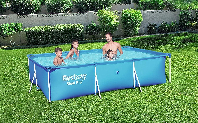 Bestway 56404 - Piscina Desmontable Tubular Infantil Deluxe Splash Frame Pool 300x201x66 cm: Amazon.es: Jardín
