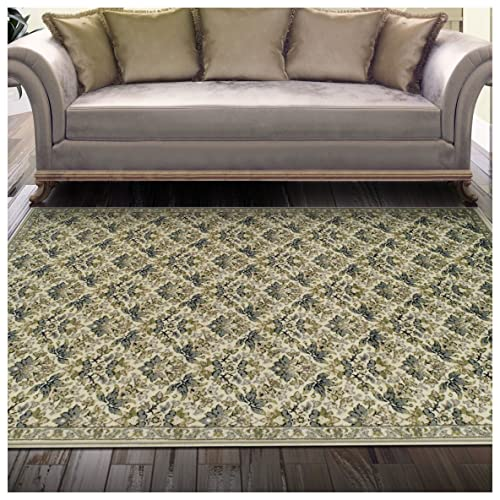 Superior Madeleine Collection Area Rug, 8mm Pile Height with Jute Backing, Beautiful Delicate Floral Pattern, Fashionable and Affordable Woven Rugs – 4 x 6 Rug