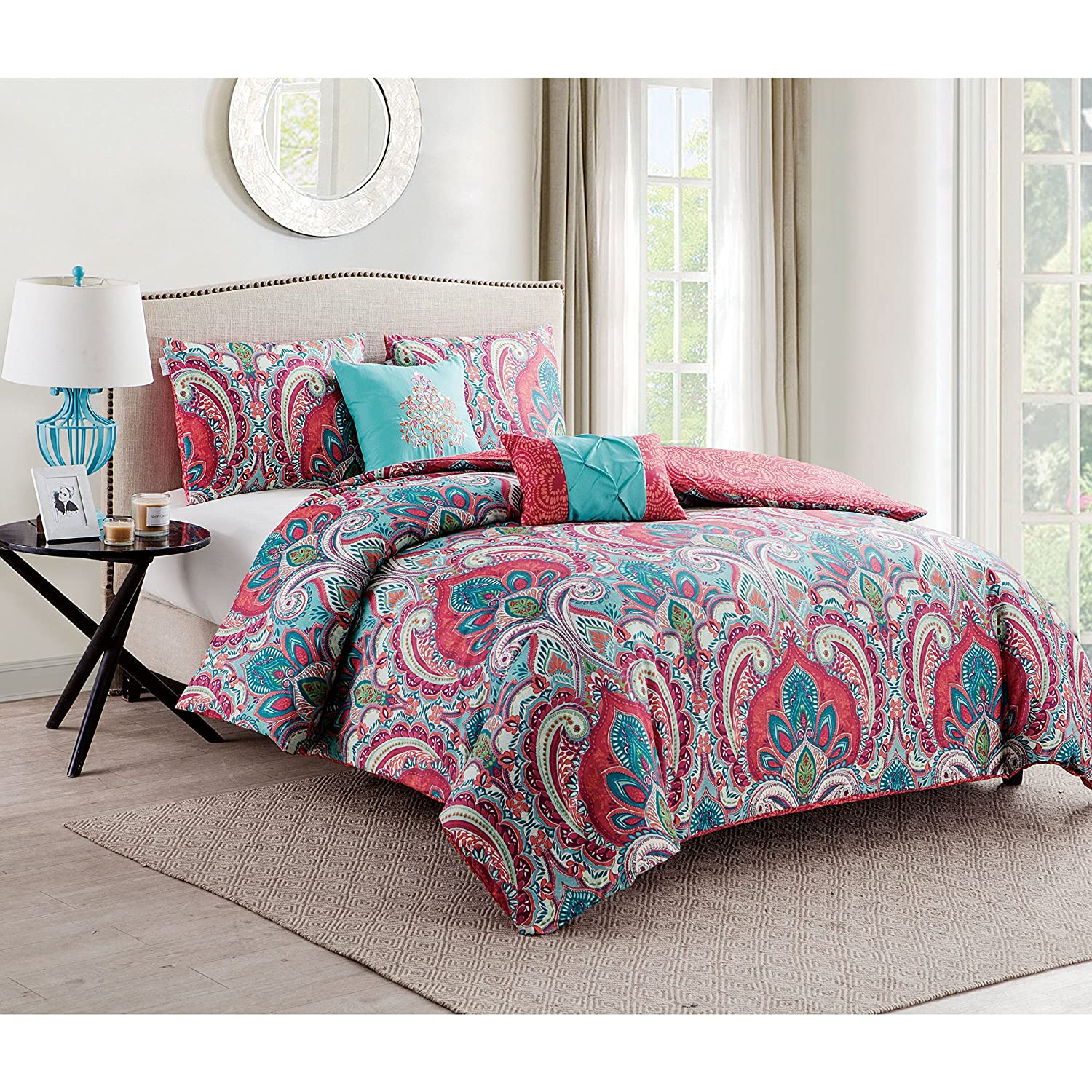 amazoncom vcny casa re'al comforter set twin home  kitchen -